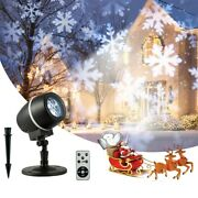 Christmas Projector Lights Outdoor Led Snowflake Laser Christmas Light W/ Remote