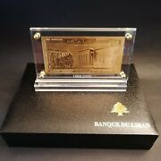 Lebanon Paper Money 5 Ll Certificate Of Authenticity From Bank Of Lebanon