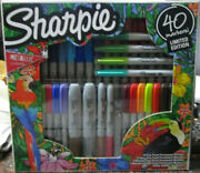 Sharpie Brand Set Of 40 Markers Limited Edition Includes 4 Metallic Art Pens New