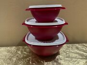 Tupperware New Press And Seal Bowls Set Of 3 Colorful Vine Color Size S L And Xl