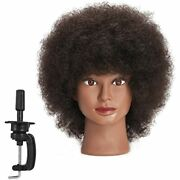 Traininghead 10and39and39 Afro Mannequin Head With 100 Human Hair Manikin Doll For