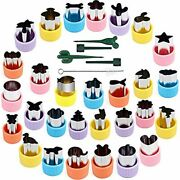 Bakingworld Vegetable Cutter Shapes Set,stainless Steel Mini Fruit And Cookie St