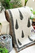 Exclusive Handcrafted Palm Leaf Jaipuri Reversible Comforter 90andtimes108 Inches