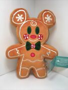 Disney 2020 Mickey Mouse Scented Gingerbread Plush Toy New 30cm
