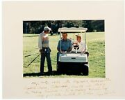 George H.w. Bush Signed And Inscribed Photo As President - To Congressman Dan Rost