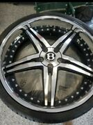 22and039 Chrome Rims And Tires From A Gt500 Twin Turbo Bentley
