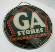 Ga Stores Rog Grocery Store Advertising Sign Reverse On Glass 2 Sided A2ps