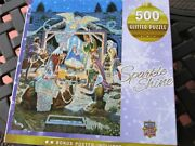 Master Pieces 500 Piece Puzzle Holy Night Glitter Puzzle 21x15 New