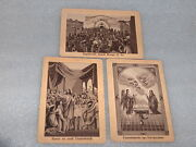 3 Vintage Antique Religious Christian Holy Cards