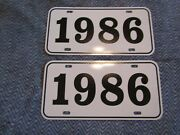 1986 Year License Plates Fits Buick Cadillac Chevrolet Pontiac Oldsmobile 2pc