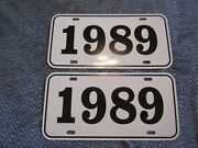 1989 Year License Plates Fits Buick Cadillac Chevrolet Pontiac Oldsmobile 2pc