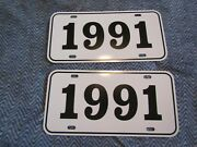 1991 Year License Plates Fits Buick Cadillac Chevrolet Pontiac Oldsmobile 2pc