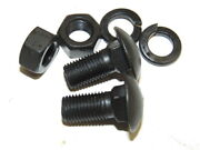 Correct 1933-36 Ford Fine Thread Bumper End To Bracket Carriage Bolts D-597