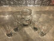 City Of Pittsburgh , Pa. Bicentennial 1758-1958 Glass Water Pitcher And Glasses