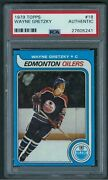 Wayne Gretzky Rc Rookie 1979 Topps 18 💥{psa Authentic}💥 The Great One