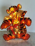 Christmas Tiger Light Up Indoor Outdoor Decoration 19x16