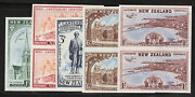 New Zealand Postage Stamps Catalog 274-278 Mint Nh Imperf Pairs Proofs