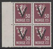 Norway Postage Stamps Catalog 218 Mint Nh Block
