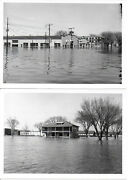 Lot Of 10 Bw Photos Of The 1965 Flood In Clinton Iowa W/ Full Descriptions