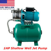 Ce High Horsepower 1 Hp Shallow Well Jet Pump And Pressure Tank 740gph 110v 750w
