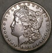 1892 Cc Morgan Silver Dollar Very Scarce Date Appealing Carson City Minted Coin