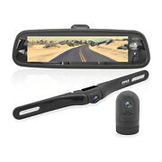Pyle 7.4 Inch Hd Video Recording System Rearview Mirror Monitor Black 2 Pack