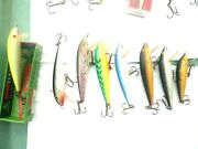 Lot Of 8 Rapala Countdown7 Size 9+ 1 Small 1 Chartreusse In Box Hot Colors