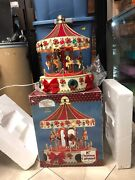 Christmas Carousel Musical Animated Lighted Vintage 1995 Hand Painted Video 16