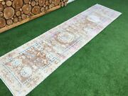 2and03910and039and039x11and0397and039and039 Vintage Turkish Rug Runnerlong Oushak Runnerantique Ushak Runner