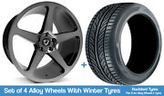 Cades Winter Alloy Wheels And Snow Tyres 20 For Tesla Model S 12-20