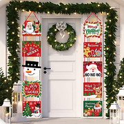 Xmas Decorations Welcome Sign Banners For Front Door/porch Decor Party Supplies