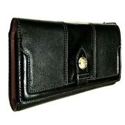 Coach Madison Slim Envelope Trifold Checkbook Leather Clutch Purse Wallet Rare