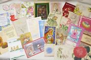 Vintage Christmas Birthday Easter Misc Greeting Cards 1950s And Up Lot Of 90