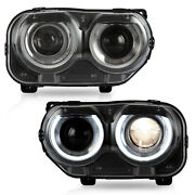Free Shipping To Pr For 2015-2020 Dodge Challenger Headlights W/drl Dual Beam