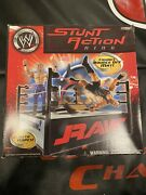 Wwe Raw Smackdown Stunt Action Wrestling Ring Fits 6andrdquo Jakks Pacific Figures Wwf