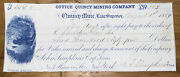 330 Blue 1859 Quincy Mining Company Draft With Shelden Signature