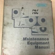 Tennant 1465 1480 Operation Maintenance Manual Parts List Guide Floor Scrubber