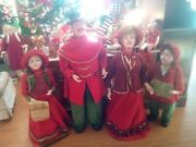 Antique Victorian Christmas Carolers Set Old Store Window Display Set Of Four