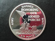 Silvertowne Honoring Our Armed Forces Silver Art Medal P2454