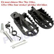 Us 2x Motorcycle Footrest Foot Pegs For Honda Xr Crf 50/70/80/100 Pit Dirt Bikes