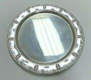 Wallace Sterling Silver 925 1934 Rose Point 12 Small Round Serving Platter Tray