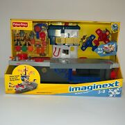 Vintage New Fisher Price Imaginext Sky Racers Aircraft Carrier Planes