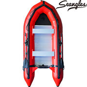 Inflatable Boat 4 Person Aluminum Floor Saltwater Fishing Boats Dinghy Boat
