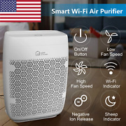Smart Wi-fi Air Purifier For Home Large Room With H13 True Hepa Filter For Alex