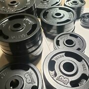2 Olympic Weight Plates American Made For Barbell Set 2.5510253545 New