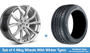 Zito Winter Alloy Wheels And Snow Tyres 19 For Volvo S60 Cross Country 15-18