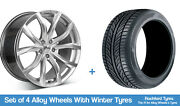 Zito Winter Alloy Wheels And Snow Tyres 19 For Volvo V60 [mk2] 18-20
