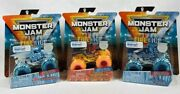 Monster Jam Fire And Ice Lot Of 3 Dragonoid Northern Nightmare Black Ops New