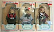 3 Vintage Classic Collectibles Country Kids Porcelain Dolls New Old Stock In Box