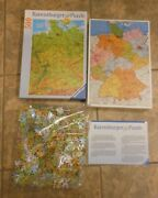 Ravensburger Map Of Germany Double Sided 500 Piece Puzzle No. 142064 New Sealed